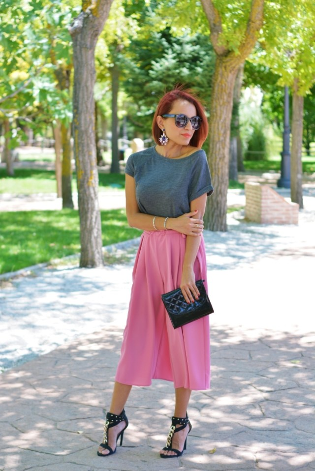 Look formal con pantalón culotte