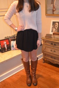 sweater: valerie vintage 100% cashmere petite sweater skirt: forever 21 knit skirt with mesh underlay