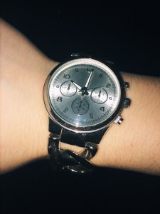 marley lilly classic silver round faced watch