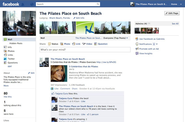 The Pilates Place - Facebook fan page