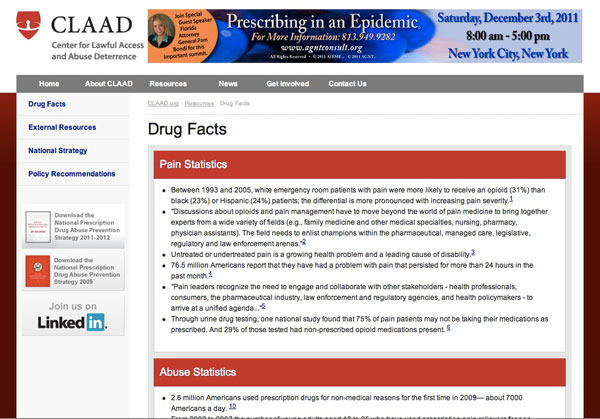 CLAAD - Drug Facts page