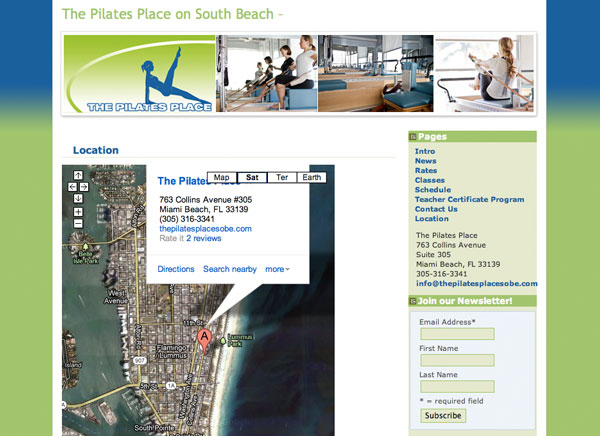 The Pilates Place - location, map page