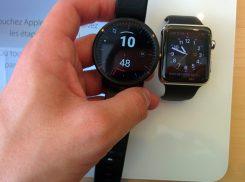 Comparaison entre Moto360 et Apple Watch 42mm