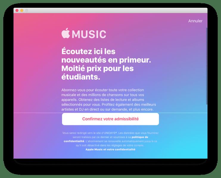 Apple Music Étudiants