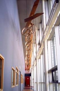 DNA Origami film shoot - artistic wood interpretation of DNA strand