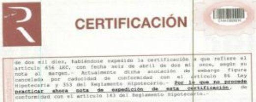certificación de cargas para tasar una vivienda sin entrar en ella