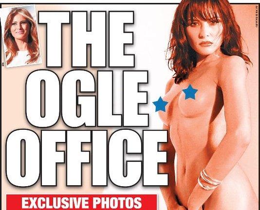La femme de Donald Trump nue à la Une d'un quotidien américain