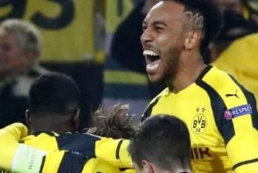 LDC : Aubameyang réalise un prestigieux triplé et le Borussia Dortmund file en quarts de finale