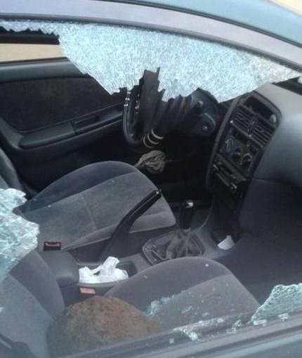 Le véhicule de Jean Rémy Yama vandalisé dans son domicile