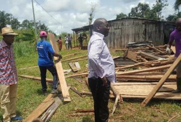 Un ouragan rase une centaine d'habitations dans le Canton Bokoué