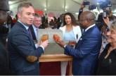 Jean-Baptiste Lemoyne pose la première pierre de la nouvelle ambassade de France au Gabon