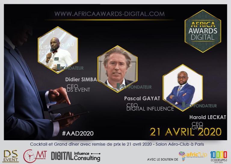 Gabon Média Time partenaire  de la 1ère  édition des Africa Awards Digital le 21 avril prochain  à Paris
