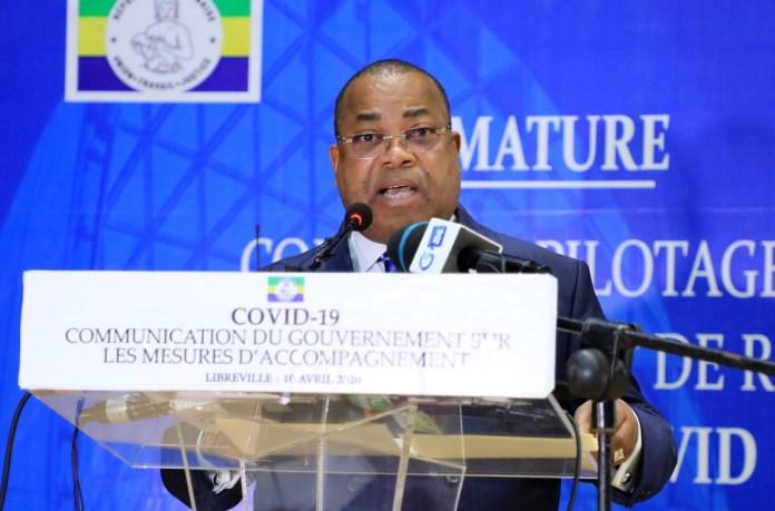 Le Premier Ministre M.Julien Nkoghe Bekale annonce les mesures sociales et économiques du Gabon / D.R