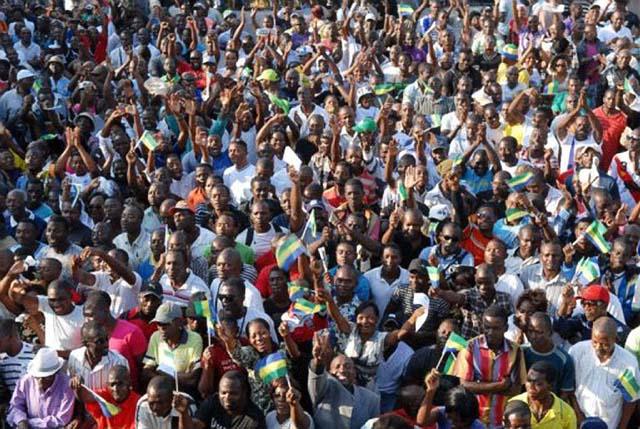 Manifestation du 15 août 2012 au quartier Cocotier - © AFP