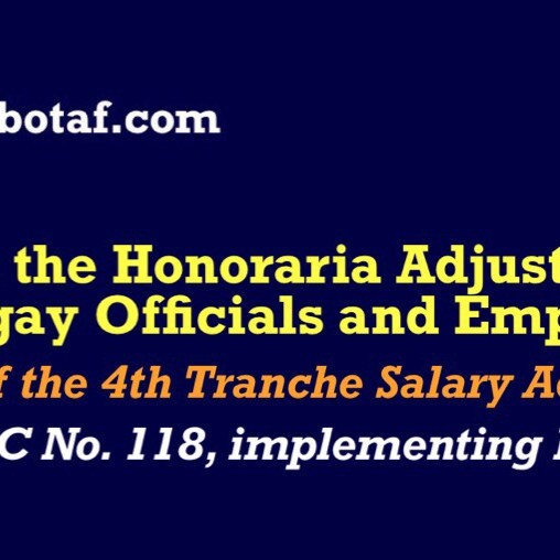 G/Information: Compensation of Barangay Officials — Honoraria – GABOTAF