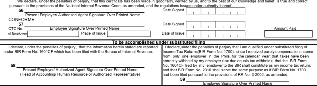 5 Things to Ensure Before submitting BIR Form 2316 to the