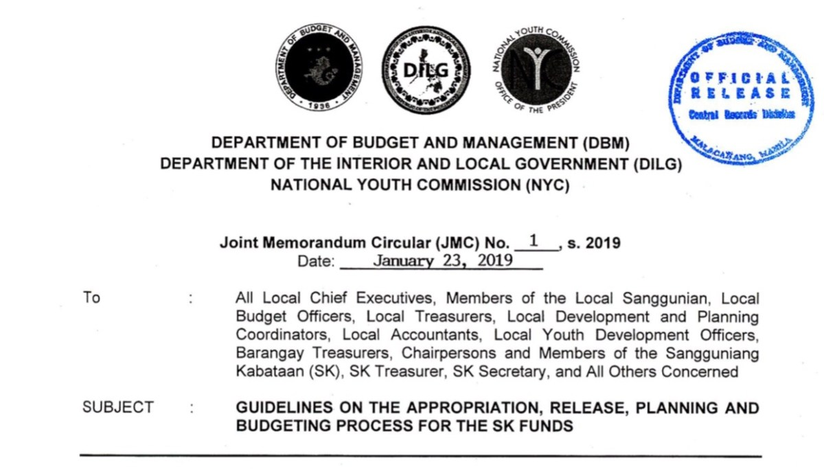 Budgeting Update] GUIDELINES ON THE APPROPRIATION, RELEASE