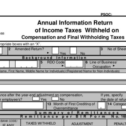 Tax Update] Deadline of Submission of BIR 1604CF and