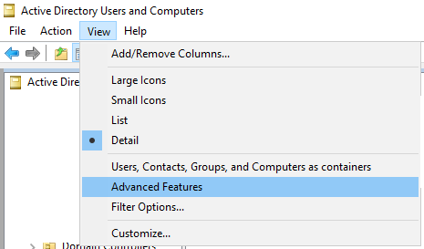 Enable AD Advanced Features