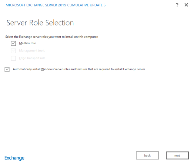 Exchange 2019 installation 07