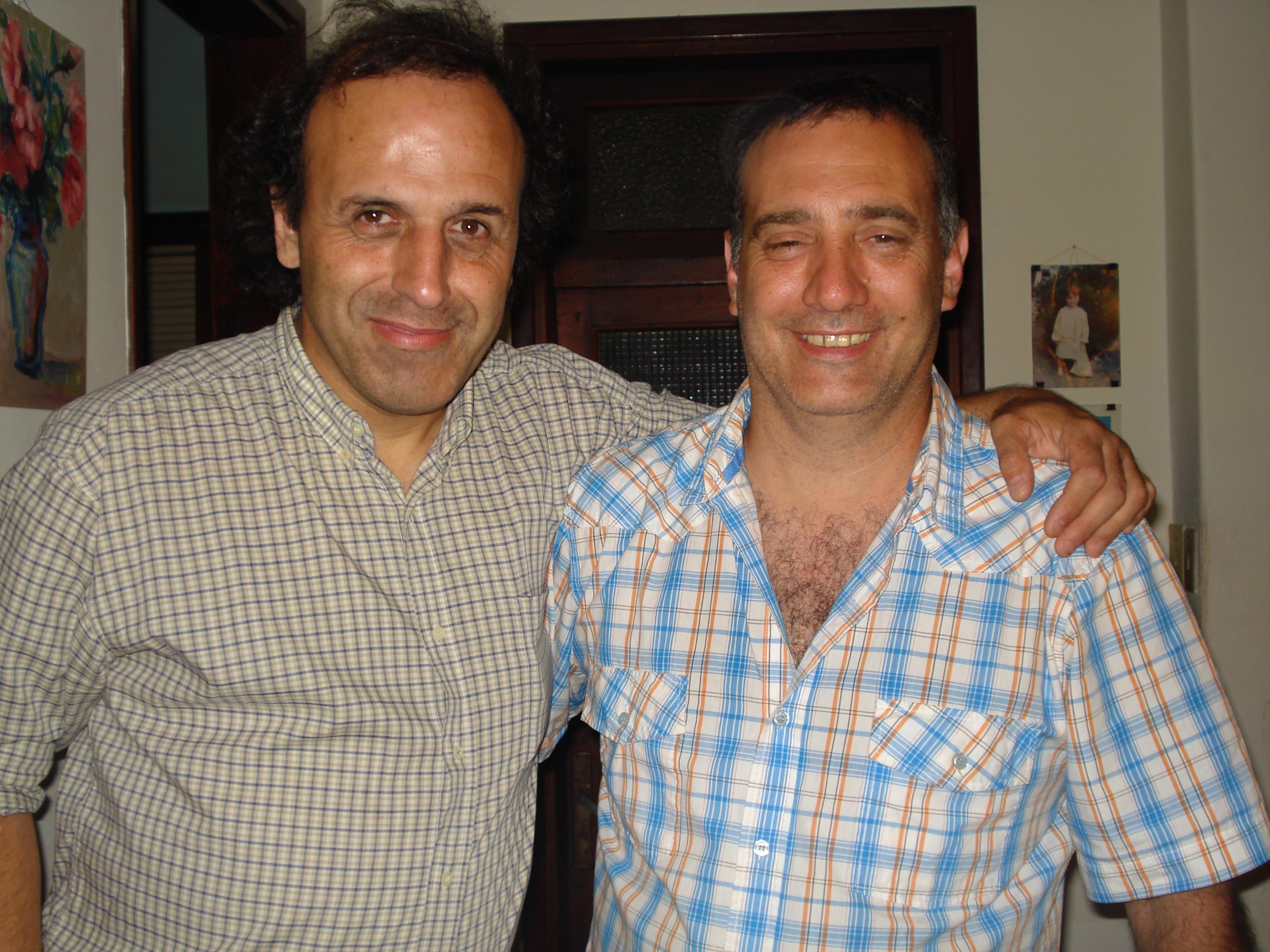 Daniel Erosa visita a otro racinguista recién llegado