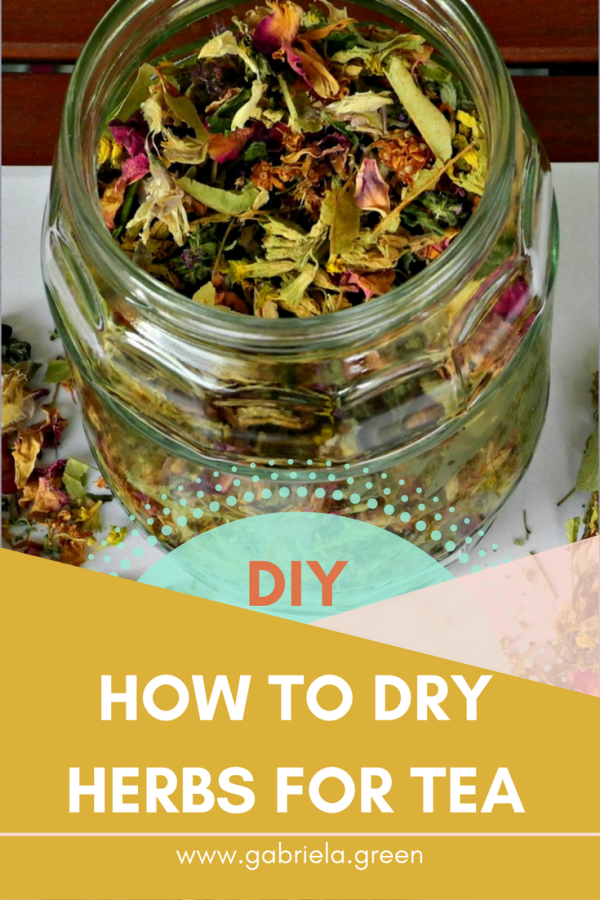 DIY- How to dry herbs for tea - Gabriela Green - www.gabriela.green