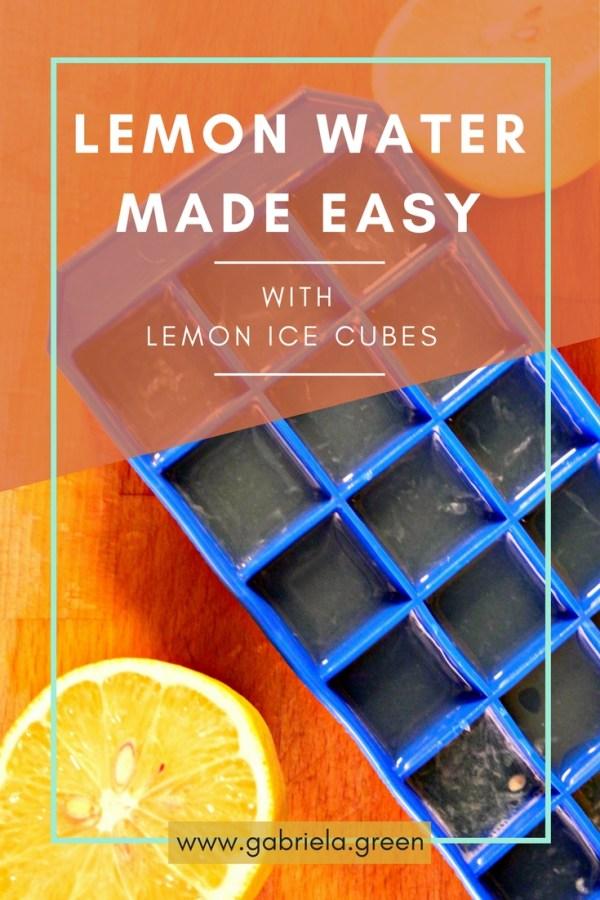 Lemon Water made easy- Gabriela Green - www.gabriela.green