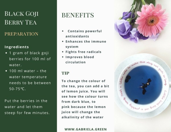 What Is Black Goji Berry Tea Gabriela Green