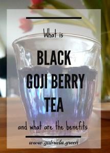 What is black goji berry tea pin
