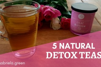 5 Natural Detox Teas- Gabriela Green - www.gabriela.green