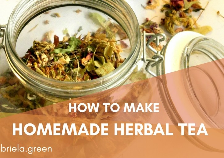 How to make homemade herbal tea - Gabriela Green - www.gabriela.green