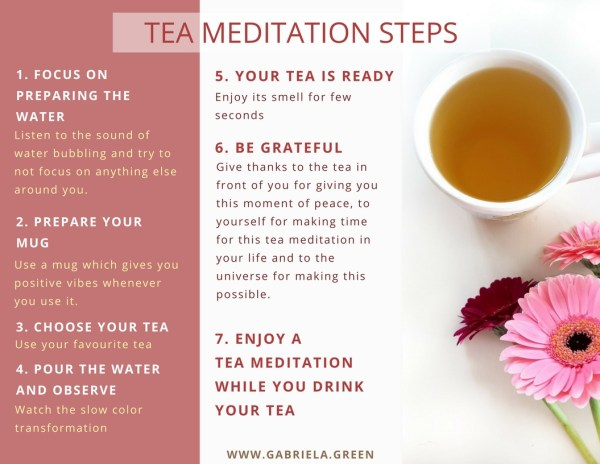 Tea Meditation steps www.gabriela.green