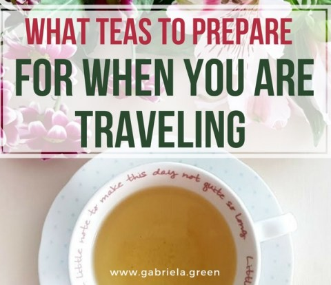 What teas to prepare for when you are traveling www.gabriela.green