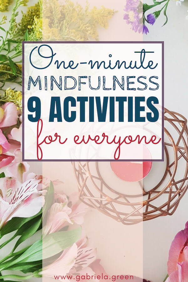 one-minute mindfulness activities for everyone