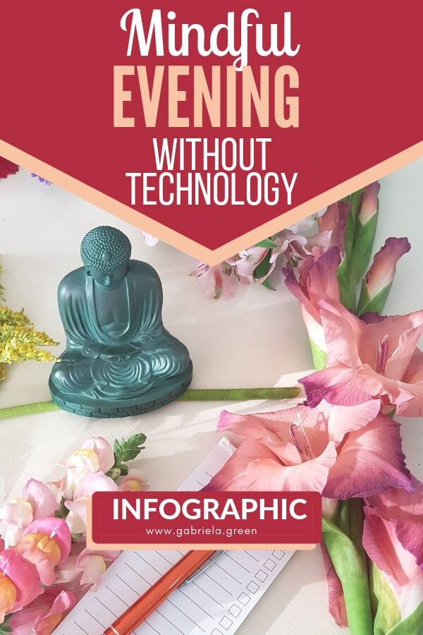 Mindful evening without technology [infographic]