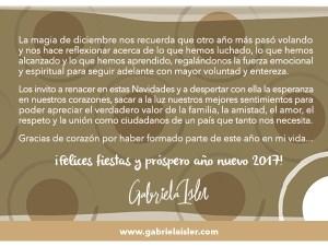 Gabriela Isler - Felices fiestas - 2016