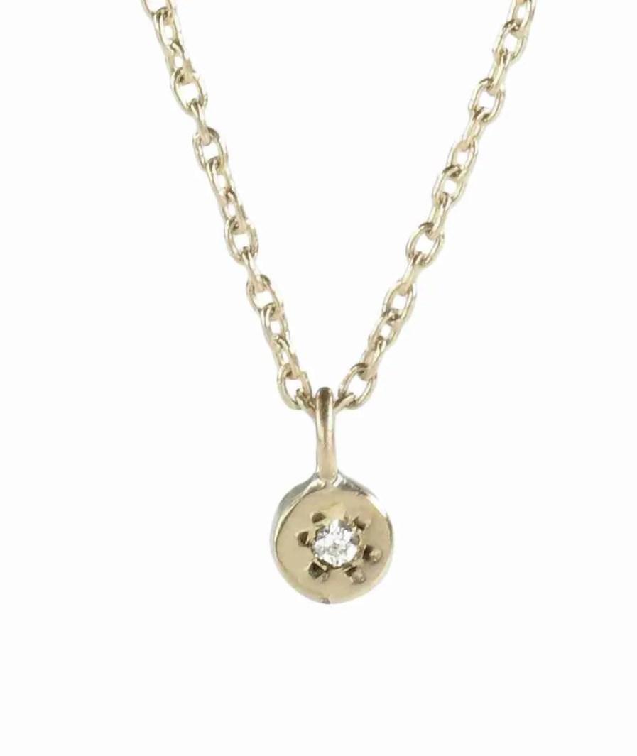 gold delicate gemstone necklace