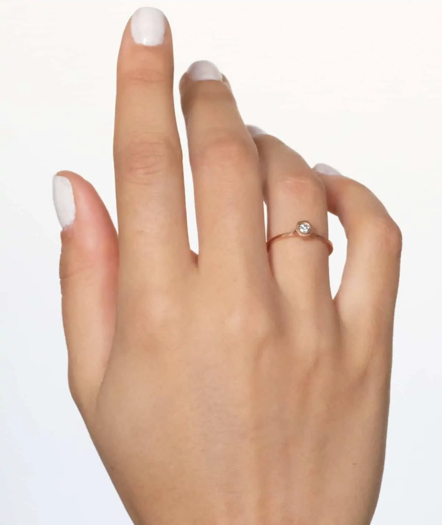 solitaire alternative engagement ring