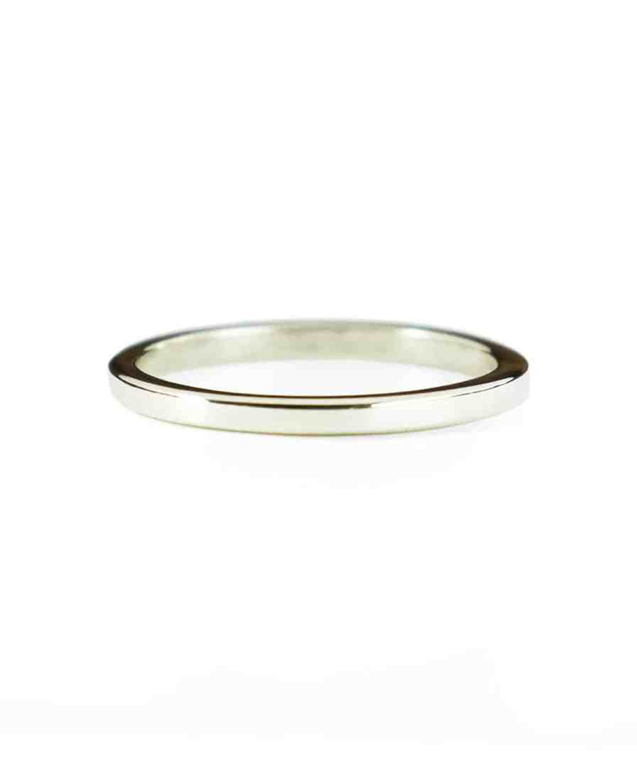 thin classic wedding bands