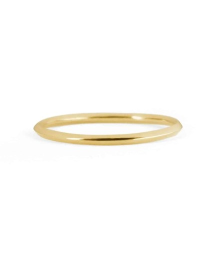 thin knife edge wedding band