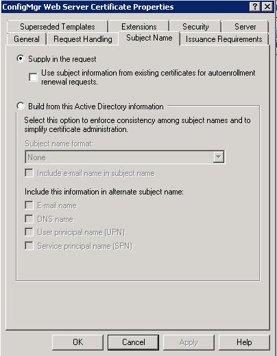 SCCM 2012: Part II - Certificate Configuration