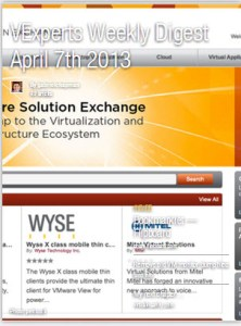 vExperts Weekly Digest – April 7th 2013