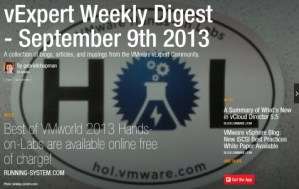 vExpert Weekly Digest – September 9th 2013