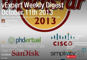 vExpert Weekly Digest – October 11th 2013
