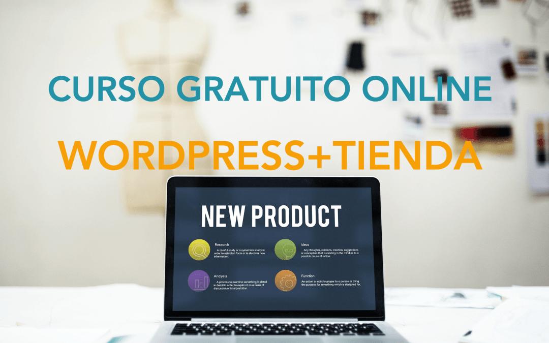 Curso de WordPress + tienda online (gratuito)