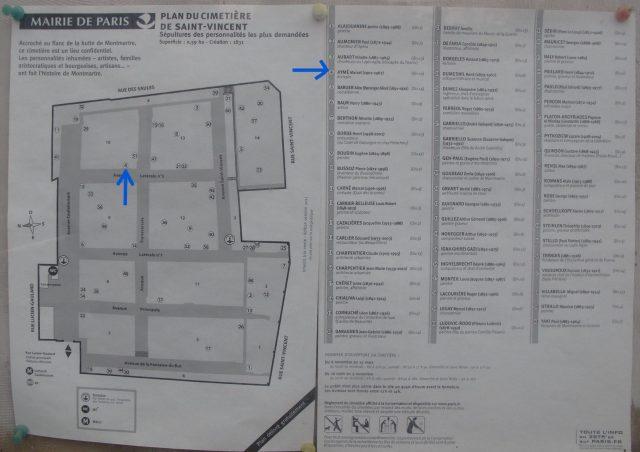 Friedhof Saint-Vincent Grab Marcel Aymé