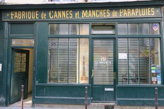 Paris Frankreich Spazierstockfabrik