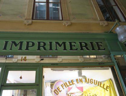 Paris Frankreich Druckerei