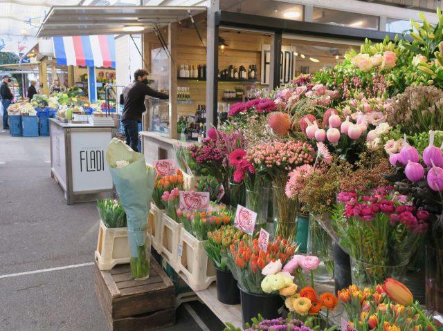 Düsseldorf Markt Carlsplatz Carlsplatzblume und Feinkost Fladi