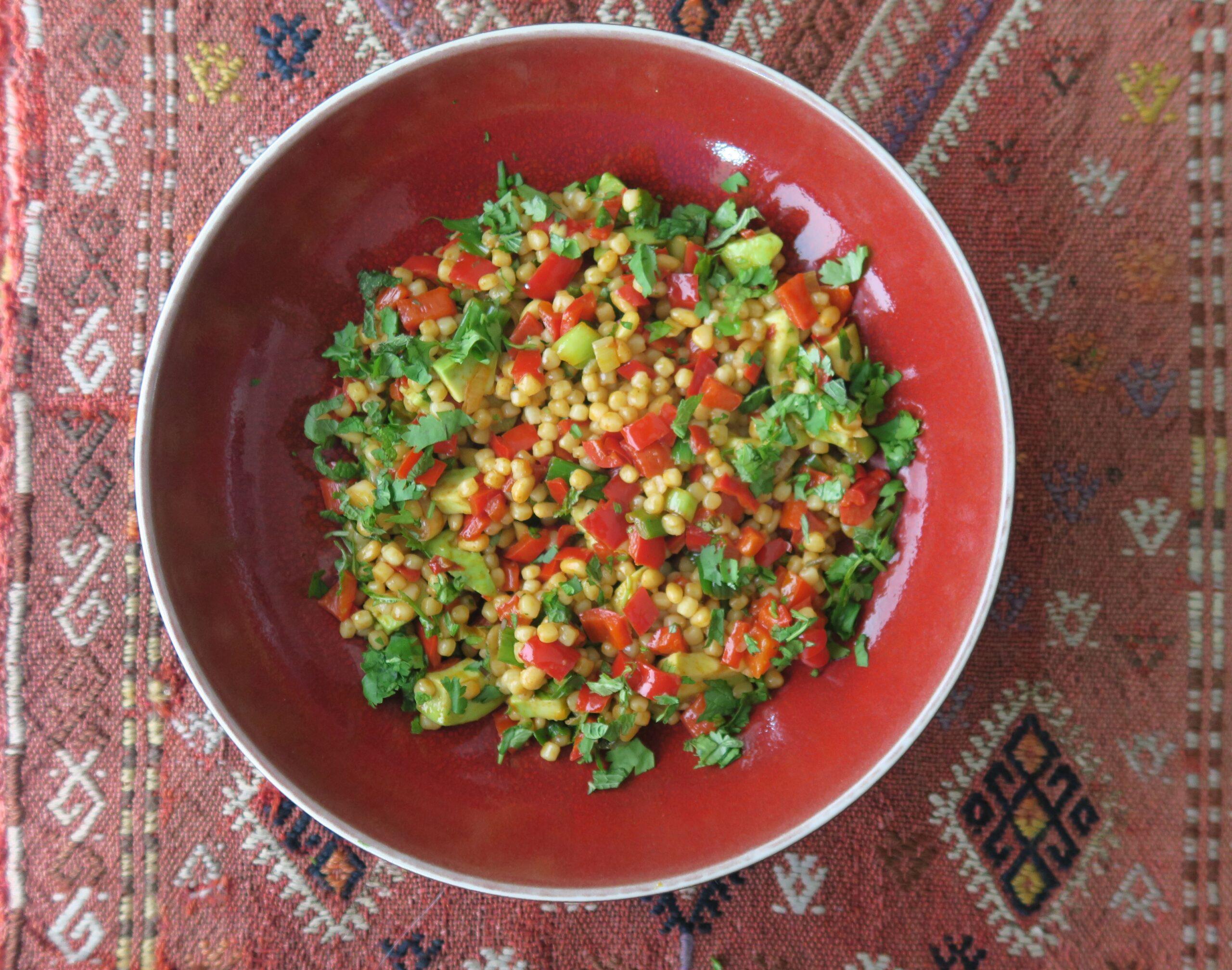 Salat Fregola Paprika